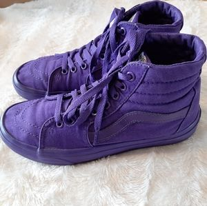 Van's Purple High Tops